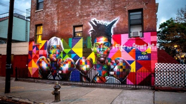 Colorful-Wall-of-Basquiat-and-Warhol_jearaf-1